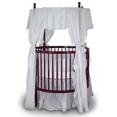 Fixed Side Round Crib and Mattress Set