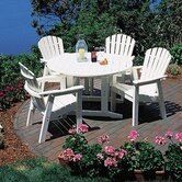 Shell Back 5 Piece Dining Set