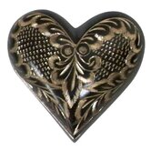 Black Radiance Heart Keepsake Urn