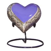 Grecian Brass Heart Keepsake Urn