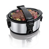 Stay or Go 6 Quart Portable Slow Cooker