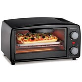 4-Slice Toaster Oven in Black