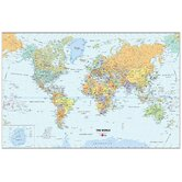 World Dry-Erase Map Decal