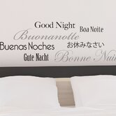 Euro Good Night Quote Wall Decal