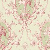Willow Cottage Cameo Floral Wallpaper in Pink