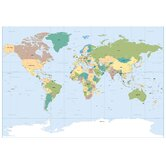 Komar World Map Wall Mural