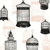 Zinc Avian Bird Cages Wallpaper
