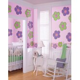 WallPops Dots Blox Stripes Poppy Green and Stripes Wall Decal Set