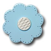 Lollipop Flower Drawer Knob in Pastel Blue