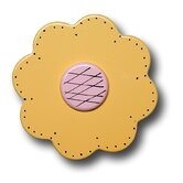Lollipop Flower Drawer Knob in Pastel Yellow