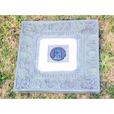 Solar Power Square Stepping Stone in Green Garden (Set of 3)
