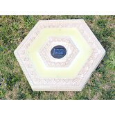 Solar Power Hexagonal Stepping Stone in White Wash (Set of 3)