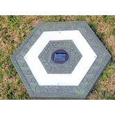 Solar Power Hexagonal Stepping Stone in Green Garden (Set of 3)