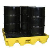 Spill Containment Pallets - 60140 4 drum low profilecontainment pallet