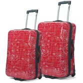 Hardsided Patterned 2 Piece Luggage Set