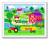 Country Farm Large Personalized Print