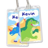 Dinosaur Land Personalized Name Tag Set
