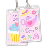 Tea Party Personalized Name Tag Set