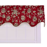 Jeanette Lined Duchess Filler Valance Window Curtain in Red