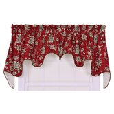 Jeanette Lined Duchess Valance Window Curtain in Red