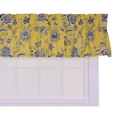 Jeanette Tailored Valance Window Curtain in Yellow