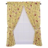 Coventry Medium Scale Floral Tailored Panel Curtains with Tiebacks