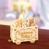 Welcome Baby Birthday China Candleholder