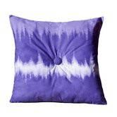 Tie Dye Square Pillow in Purple