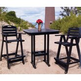 Nautical 3 Piece Bar Height Dining Set