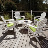 Trex Outdoor Cape Cod 5 Piece Adirondack Conversation Group with Cushion