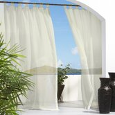Outdoor Décor Escape Outdoor Sheer Velcro Tab Top Curtain Panel in Natural