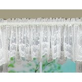 Bridal Lace with Scalloped Hem Swag Pair