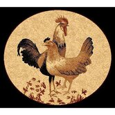 African Adventure Rooster Novelty Rug