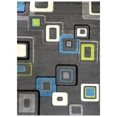 Studio 607 Charcoal Geometric Design Rug