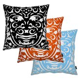 Triton 1 Throw Pillow in Blue