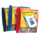 1&quot; Assorted Colors Silhouette View Flexible Binder