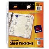 10 Pack Standard Weight Reference Sheet Protector in Clear