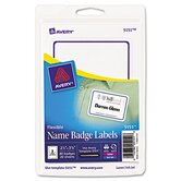 Flexible Self-Adhesive Laser / Inkjet Name Badge Labels