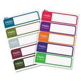 """Hello"" Flexible Self-Adhesive Mini Name Badge Labels"