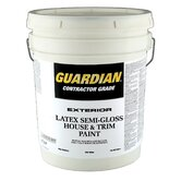 5 Gallons Semi-Gloss White Exterior Latex House Paint 44-755 5G