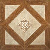 Madison 12&quot; x 12&quot; Vinyl Woodtone / Stone Tiles (Set of 9)