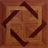 Vinyl Machine Wood Star Floor Tile (Set of 30)