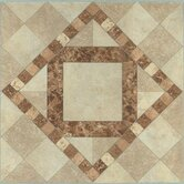 Vinyl Beige / Brown Diamond Floor Tile (Set of 20)
