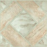Vinyl Light Marble Diamond Floor Self Stick Tile (Set of 20)