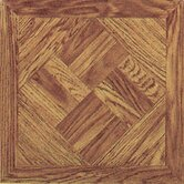 Vinyl Light Wood Diamond Square Floor Tile (Set of 20)