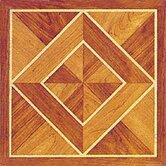 Vinyl Machine Light / Dark Wood Diamond Floor Tile (Set of 20)