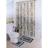 Bath Boutique 15 Piece Bath Set in Brown / Aqua