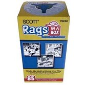 85 Count White Scott&reg; Rags In-A-Box 75240
