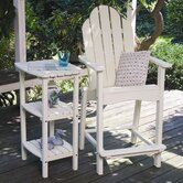 Cottage Classic Adirondack Arm Chair with Side Table