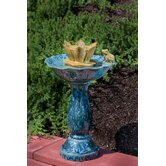 Corona Ceramic Outdoor Fountain Bird Bath